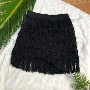 Forever 21 Fringe Tier Mini Skirt
